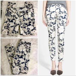 Seven For All Mankind Skinny Ankle Floral Jeans